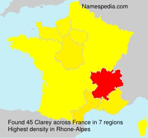Surname Clarey in France