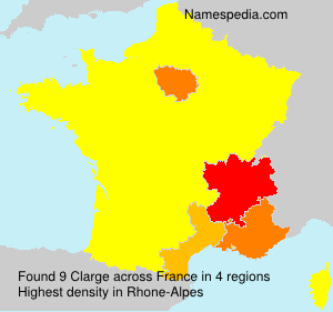 Surname Clarge in France