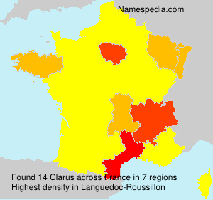 Surname Clarus in France
