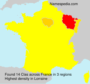 Surname Clas in France