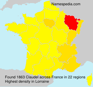 Surname Claudel in France