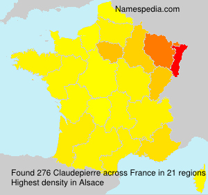 Surname Claudepierre in France
