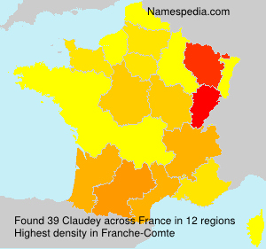 Surname Claudey in France