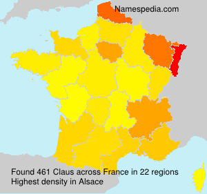 Surname Claus in France