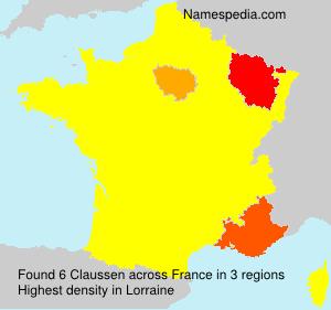 Familiennamen Claussen - France