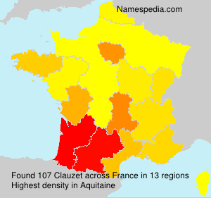 Surname Clauzet in France