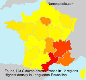 Familiennamen Clauzon - France
