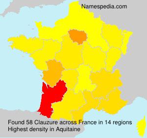 Familiennamen Clauzure - France