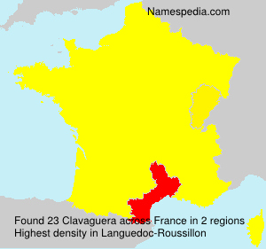 Surname Clavaguera in France