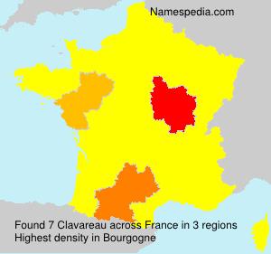 Familiennamen Clavareau - France