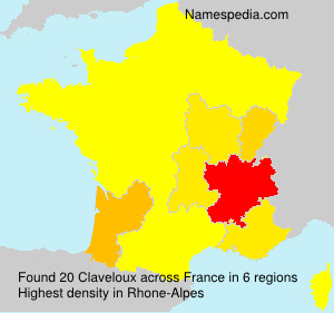 Surname Claveloux in France
