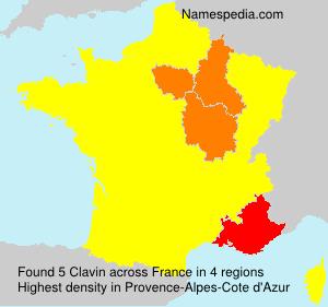 Surname Clavin in France