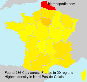 Surname Clay in France