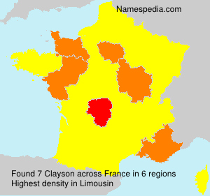 Surname Clayson in France