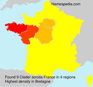 Surname Cleder in France