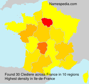 Familiennamen Clediere - France