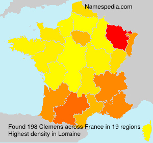 Surname Clemens in France
