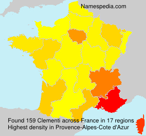 Surname Clementi in France