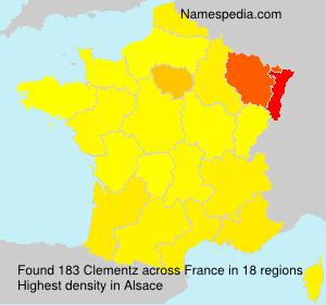 Surname Clementz in France