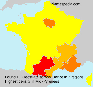 Surname Cleostrate in France