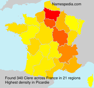 Surname Clere in France