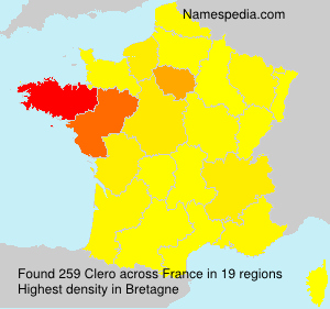 Surname Clero in France
