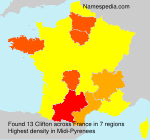 Surname Clifton in France