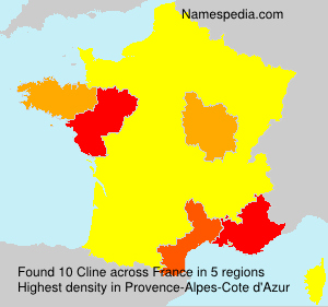 Surname Cline in France