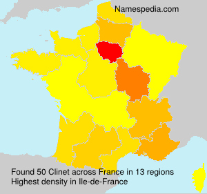 Surname Clinet in France
