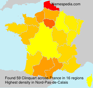 Surname Clinquart in France
