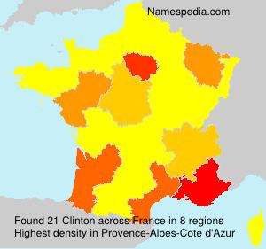 Familiennamen Clinton - France