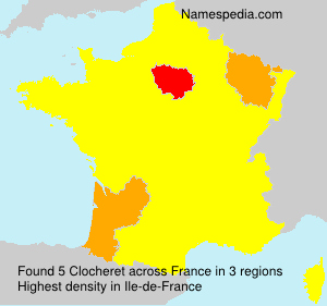 Surname Clocheret in France