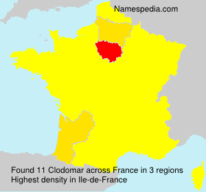 Surname Clodomar in France
