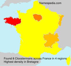 Familiennamen Cloostermans - France