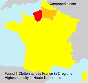 Surname Clotten in France
