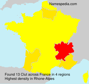 Surname Clut in France