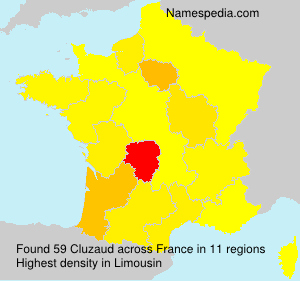 Surname Cluzaud in France