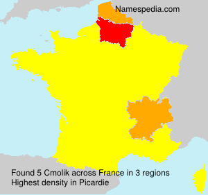Surname Cmolik in France