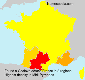 Surname Coalova in France