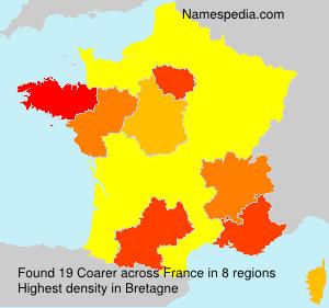 Surname Coarer in France