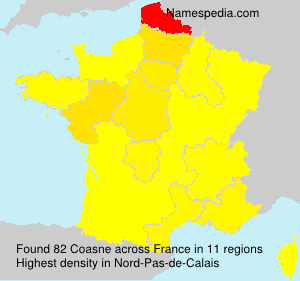 Surname Coasne in France
