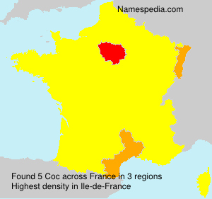 Surname Coc in France