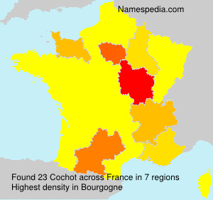 Surname Cochot in France