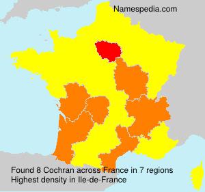 Familiennamen Cochran - France