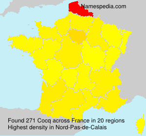 Surname Cocq in France