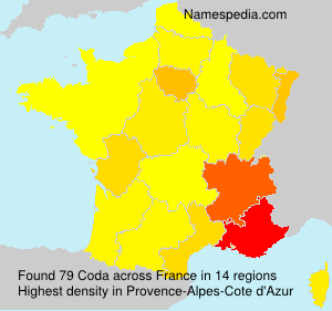 Surname Coda in France