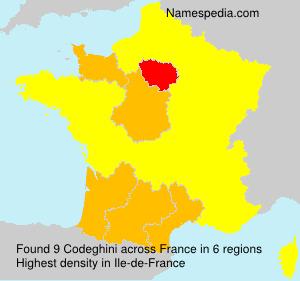 Surname Codeghini in France