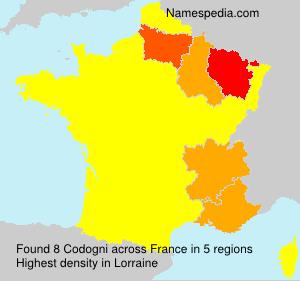 Surname Codogni in France