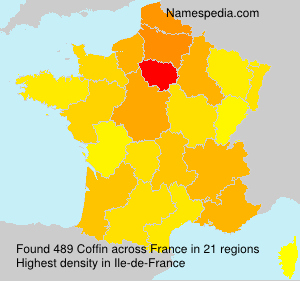 Surname Coffin in France