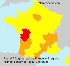 Surname Coghlan in France